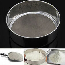 Stainless Steel Mesh Flour Sifting Sifter Sieve Strainer Cake Baking Kitchen VE