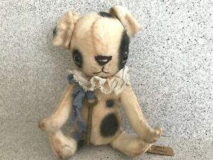 Alla's Bears Artist Handmade Vintage Looking 2012 Teddy Puppy 9 inch -  MINT