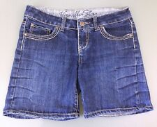 Vanilla Star Women's Size 9 Low Rise Flap Pocket Denim Blue Jean Short Shorts