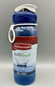 Rubbermaid Refill Reuse 20 oz Original CHUG Bottle BPA Free Deep Blue