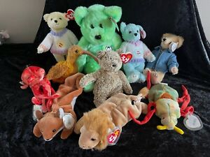 Lot of 10 Ty Various Beanie Babies, Mint Condition.