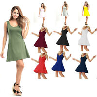 Summer Women Evening Party Sleeveless Short Mini Dress Cocktail Beach Sundress