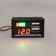 Digital Car Motorcycle 12V Voltmeter Voltage Battery Panel Meter w USB 5V Output