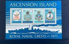 Ascension Island 1971 Royal Naval Crests