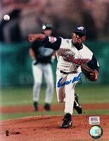 Ramon Ortiz Signed 8X10 Photo Autograph Anaheim Angels Ball in Air PSA/DNA