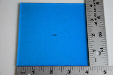 "1116.30 TRANSPARENT TURQUOISE BLUE 4""x 4"" SQUARE BULLSEYE 3mm THICK GLASS 90 COE"