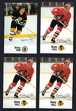 1988-89 Esso NHL Hockey Stars Lot Bobby Orr Bobby Hull NM-MT 4 Card Lot