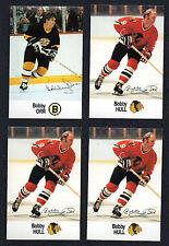 0001988-89 Esso NHL Hockey Stars Lot Bobby Orr Bobby Hull NM-MT 4 Card Lot