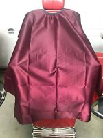 Dincer Barber Cape Gown Burgundy Satin Salon Hair Cutting Capes Gowns Barbering