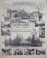 1908 CHATEAU DES TOURS ST EMILION BORDEAUX WINE WINERY VIEWS BY HENRY GUILLIER