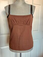 Red Valentino Cotton Brown Top Women Size Small NWT