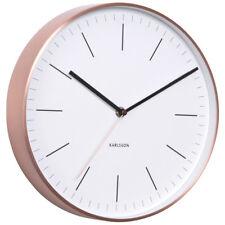 Karlsson Minimal Copper Clock - White