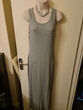 Size 14 New Look Maternity Light Grey Ribbed Style Summer/Winter Dress