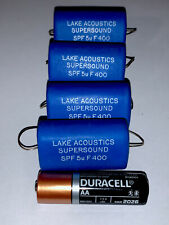 Pure Silver Leads Audiophile 2% High-End Capacitor 5uF Lake Acoustics Supersound