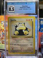 🌴JUNGLE🌴1999 Pokemon 27/64 - Snorlax Non Holo Rare - CGC 8.5 NM/MINT+ PSA BGS