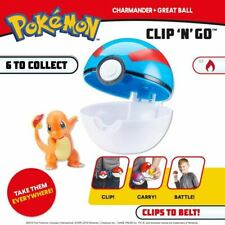 POKEMON CLIP 'N' GO POKE BALL & FIGURE TOY -  NEW