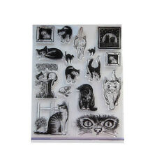 Clear Cat Scrapbooking Seal Paper Animal Craft DIY Rubber Rubber Stamps