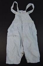 1950's Vintage SanTone Blue Striped Cotton Suspender Shorts Toddler Size 18mo.