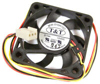 T-T 12v DC 0.14a 50x10mm 3-Wire Fan MW-510H12C Ball Bearing Cooler Master