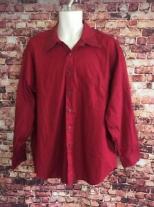 Fubu Red 100% Cotton Dress Shirt Size 17 1/2