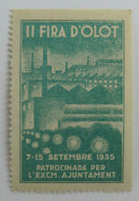 Poster Stamp Cinderella Fira D'Olot Olot Fair Catalonia Spain 1935