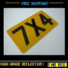 """MOTORBIKE MOTORCYCLE  REGISTRATION NUMBER PLATE SIZE 7"""" X 4"""" CUSTOM SHOW PLATE"""