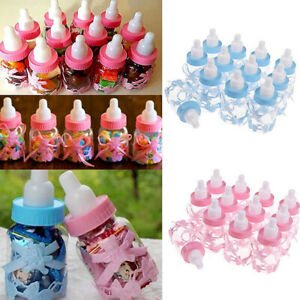 Fillable Bottles for Baby Shower-Favors Blue Pink-Party Decorations Girl Boy 12