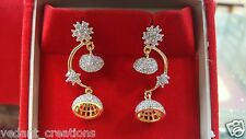 bollywood Indian small 3cm clasic 22k Gold Plated jhumka jhumki jewelry Earrings