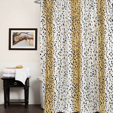 "Polyester Fabric Shower Curtain 70""x72"" Hailey Animal Print Beige"
