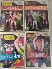 Just Dance Wii Bundle 1 2 3 4 (Special Edition) Games With Manual