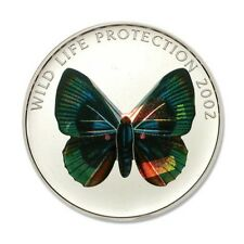 Dem Rep of Congo Prism Green Butterfly C 2002 5 Franc Crown BU