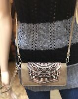 Western Montana West Embroidered Collection Wallet/Crossbody Brown