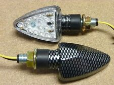 Motorcycle Turn Signal Blinker Flasher LED Bike Carbon