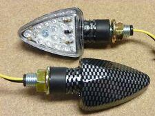 Stalk Turn Signal Blinker Lights Flasher LED Carbon
