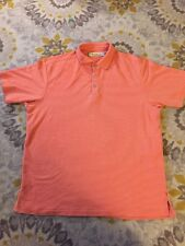 Tommy Bahama Men's Polo Shirt Short Sleeve Size L Coral Golf