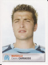 193 CEDRIC CARRASSO OLYMPIQUE MARSEILLE OM ROOKIE STICKER FOOT 2007 PANINI