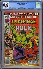 Marvel Team-Up #53 CGC 9.8 NM/MT Wp 1977 Spider-Man & Hulk + 1st Byrne X-Men