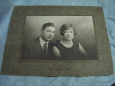 Vintage Original Cabinet Portrait Photograph of Couple -by Horace Dudley-1920's