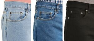 New Men's Regular Fit Classic Jeans George 100% Cotton All Sizes Three Colors