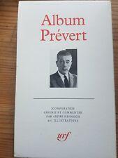 Album Jacques Prévert Pléiade