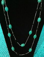 """Park Lane """"TROPICS"""" NECKLACE - Genuine Turquoise & Pearls  Orig $113 - Lovely!"""