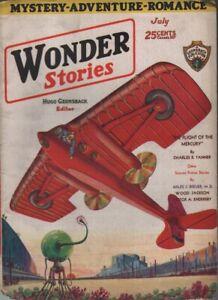 Wonder Stories 1930 July.    Pulp