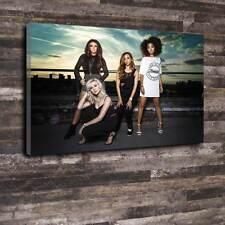 """Little Mix De Lona Impresa Caja A1.30""""x20"""" - 30mm profundo Marco Música Pop Chica banda V4"""