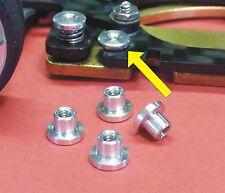 Slotcar T-HÜLSEN 4-STÜCK M2 Länge 2,5mm  ALU für CHASSIS Made in Germany TH-25-4