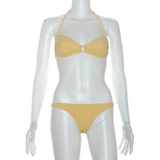 NEW Cot'n by Lucenti Women's Swimwear Bandeau Bikini 2 pics set-Gemada Yellow-S