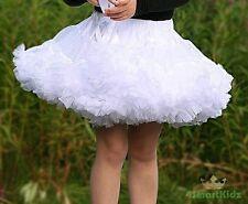 White Girl Tulle Pettiskirt Dance Party Skirt Size 5-6