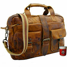 Aktentasche - Laptoptasche LAVOISIER Rugget-Hide-Leder braun - BARON of MALTZAHN