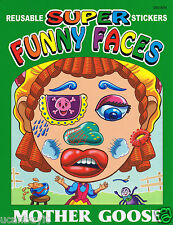 MOTHER GOOSE SUPER FUNNY FACES Sticker Book Age 3+