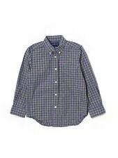Boy Ralph Lauren Polo Blue Green Plaid Dress Button Down L/S Shirt Size 5