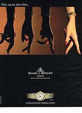 PUBLICITE ADVERTISING 044  1991  BAUME & MERCIER  colection montre RIVIERA